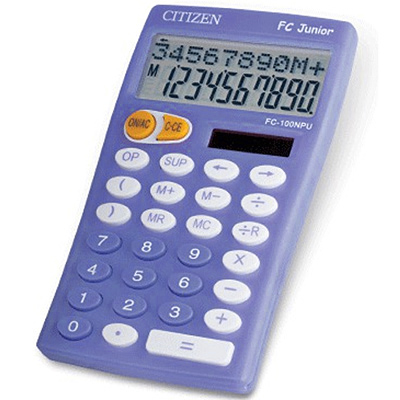 Калькулятор 10 разр. CITIZEN 76*128*17мм сиреневый