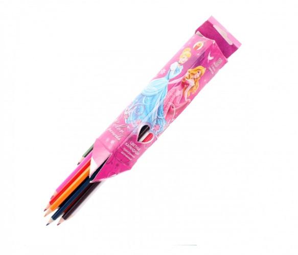 Карандаши цветные 12 цв Barbie треуг.