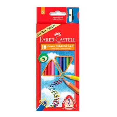 Карандаши цветные 10 цв FC Junior Grip треуг. + точилка