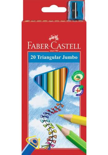 Карандаши цветные 20 цв FC Junior Grip + точилка