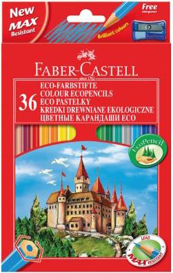 Карандаши цветные 36 цв FC ECO Замок с точилкой