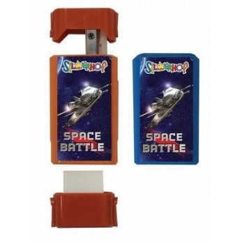 Точилка + ластик Silwerhof Space battle