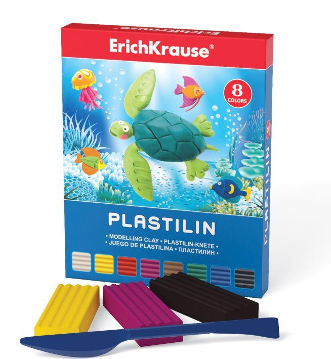 Пластилин 8 цв EK Морской мир со стеком 144гр