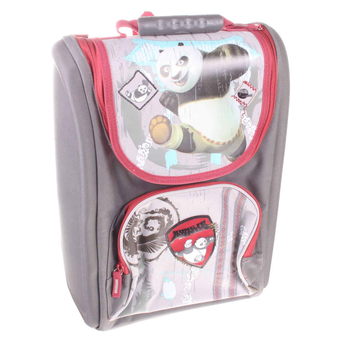 Рюкзак Kung Fu Panda ортопедический серый с красным