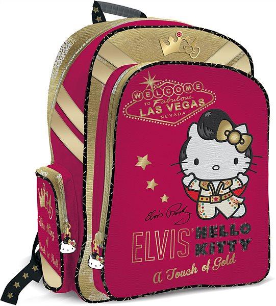 Рюкзак Hello Kitty ELVIS жесткая спинка красный с золотом