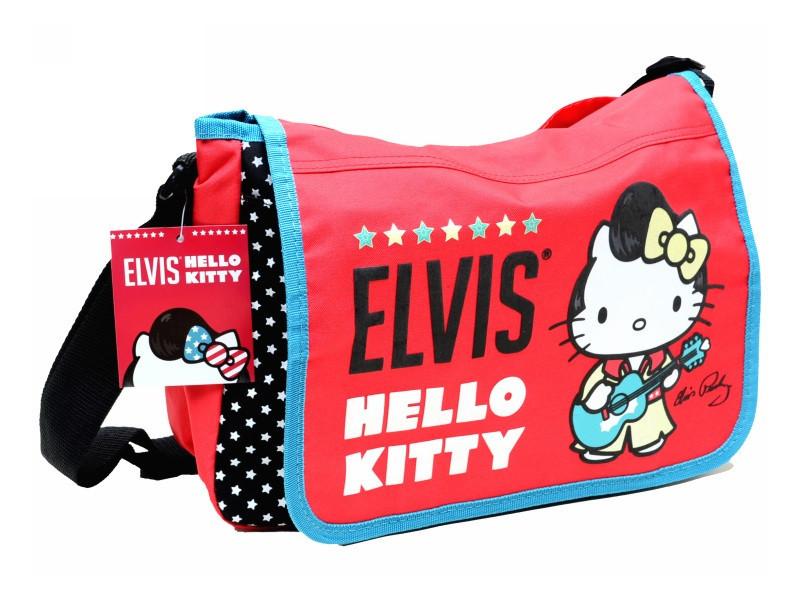 Сумка молодежная Hello Kitty ELVIS на ремне красная
