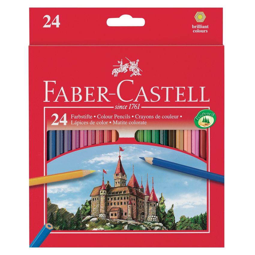 Карандаши цветные 24 цв FC Eco Замок