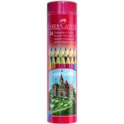Карандаши цветные 24 цв FC Colour Pencils мет. пенал