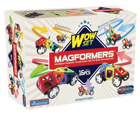 Конструктор магнитный Магформерс Wow set 16 дет.