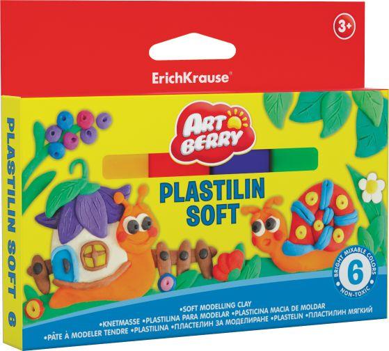 Пластилин 6 цв EK Artberry 144гр