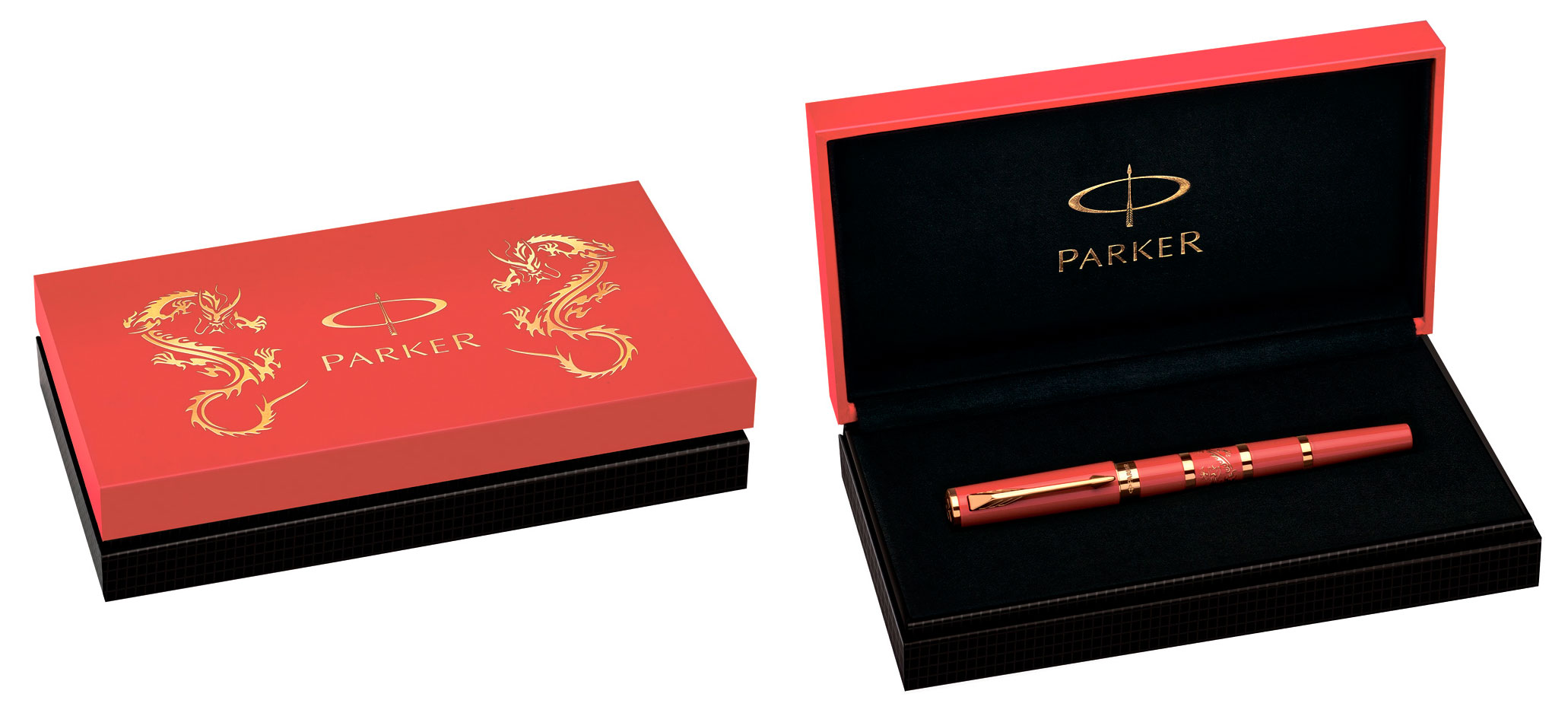 Ручка подар. Parker PRK Ingnty L Red Dragon GT M BLK GB LE