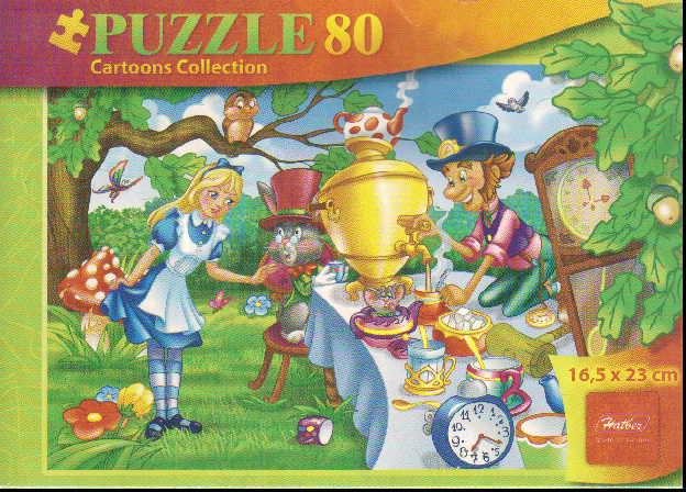 Пазл 80 Алиса в стране чудес