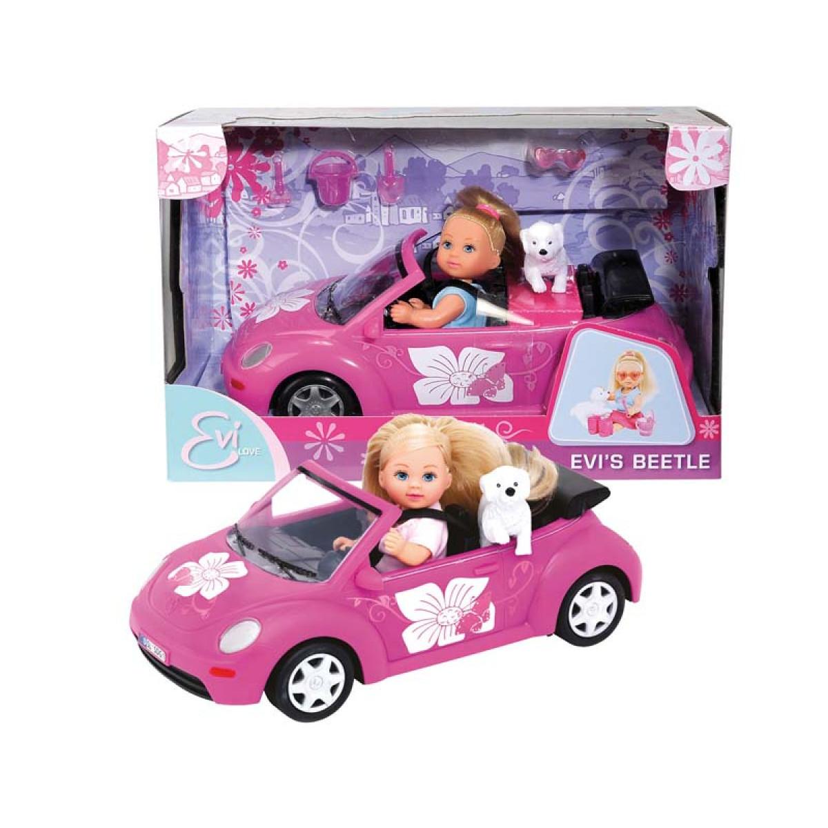 Кукла Еви + машинка + аксес