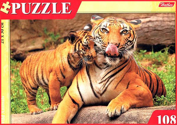 Пазл 108 Тигрица с тигренком