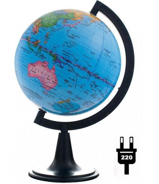 Глобус d-20 политический с подсветкой 1:60 000 000