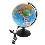 Глобус d-25 политический с подсветкой М 1:50 000 000