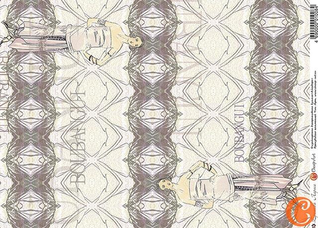 Бумага дизайнерская декоративная А3 Айседора