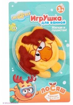 АКЦИЯ19 Игрушка для ванной Смешарики Лосяш (вырастает в воде за 40 сек.)