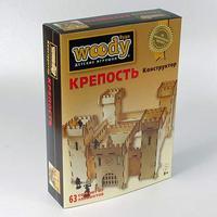 Конструктор деревянный Вуди Крепость 77эл