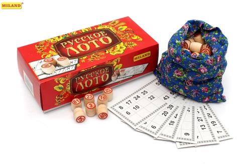 Игра Настольная Русское лото в картонной упаковке