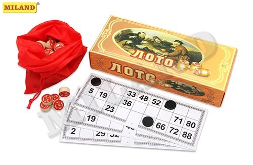 Игра Настольная Русское лото (деревянные бочонки) в коробке
