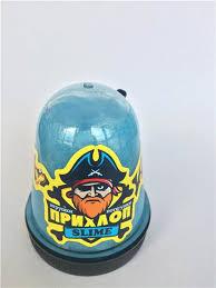 Слайм Прихлоп Slime 130гр голубой перламутровый