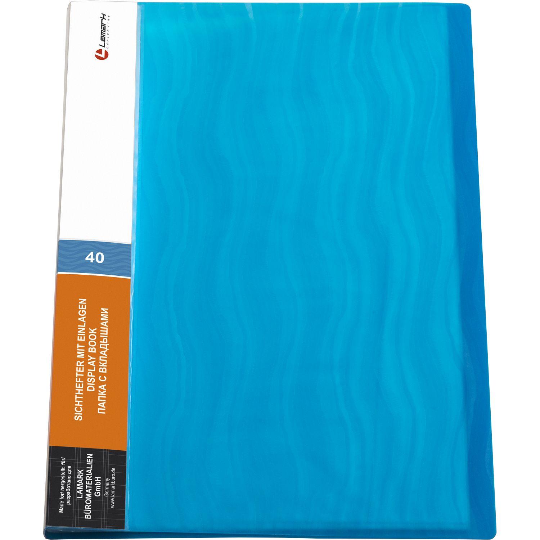 Папка-файл А4 40л Lamark Волна синяя