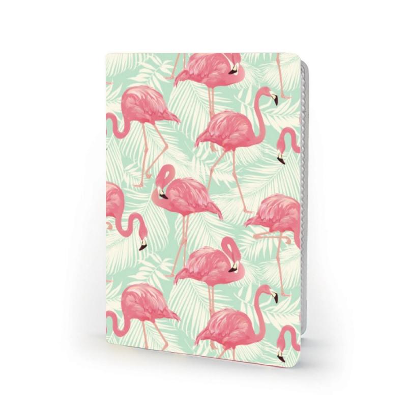 Обложка для 2х карт Фламинго