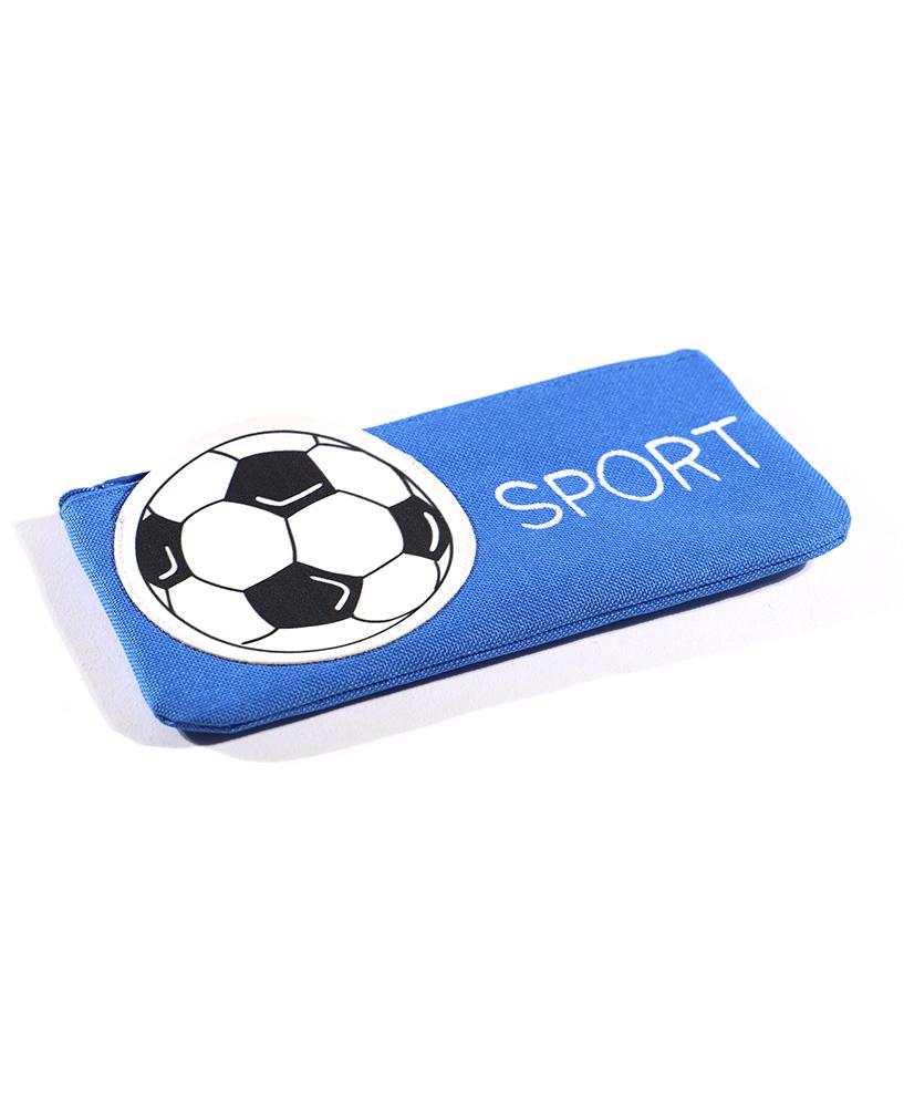 Пенал-косметичка Футбольный мяч с аппликацией, ткань