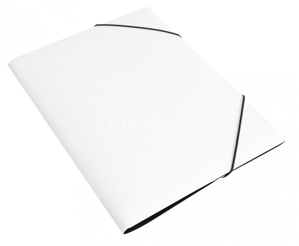 Папка на резинках А4 1отд Бюрократ DeLuxe 30мм молочный