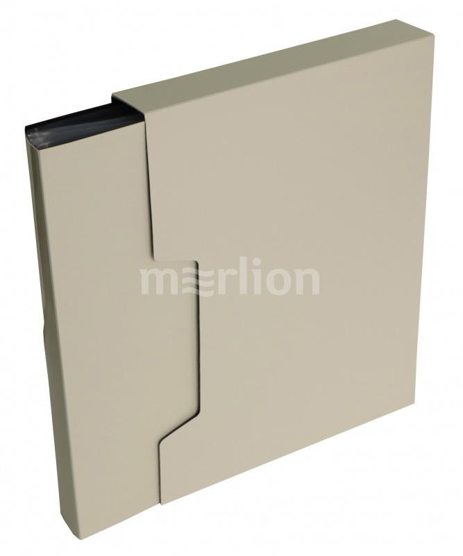 Папка-файл А4 80л Бюрократ DeLuxe молочный в коробе