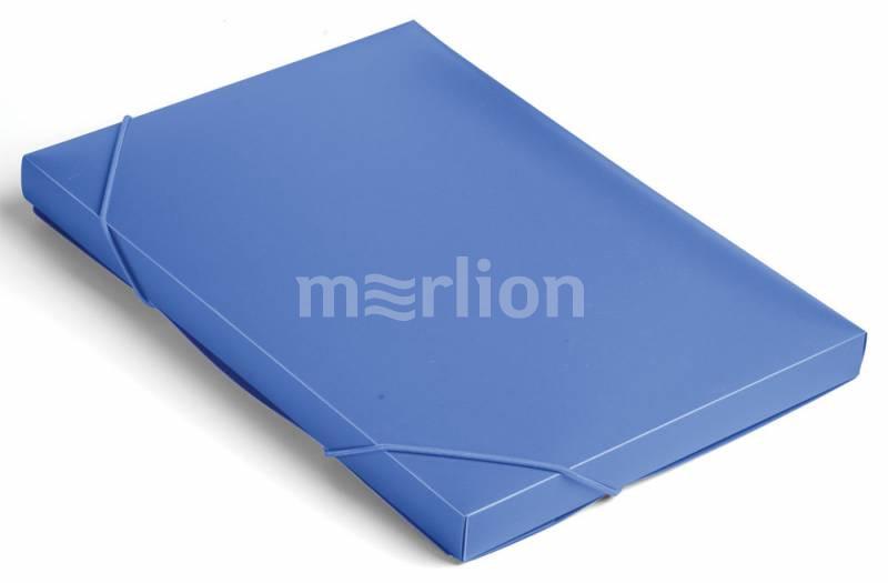 Папка на резинках А4 1отд Бюрократ 25мм синий