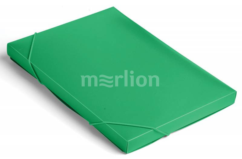 Папка на резинках А4 1отд Бюрократ 25мм зеленый