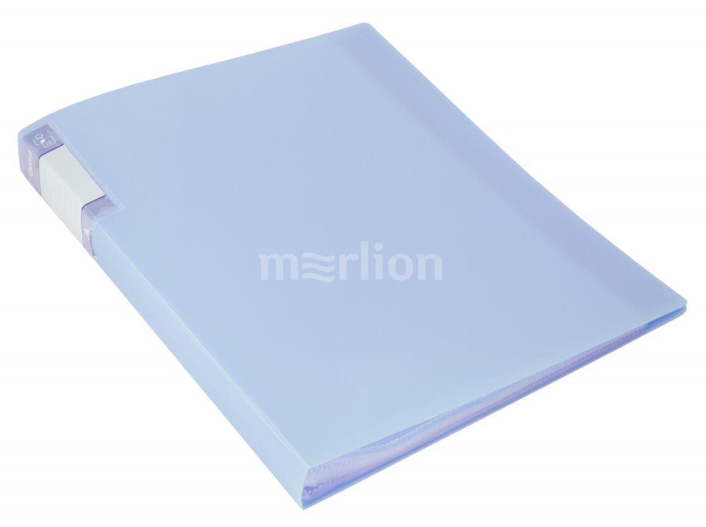 Папка-файл А4 60л Бюрократ Gems голубой топаз