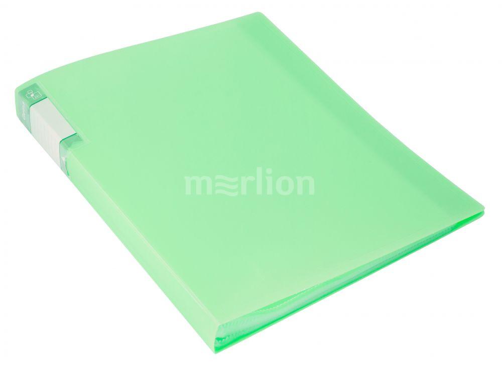 Папка-файл А4 60л Бюрократ Gems зеленый турмалин