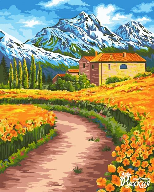 Творч Рисование по номерам 40Х50 Альпийские луга