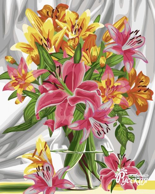 Рисование по номерам 40Х50 Прекрасные лилии