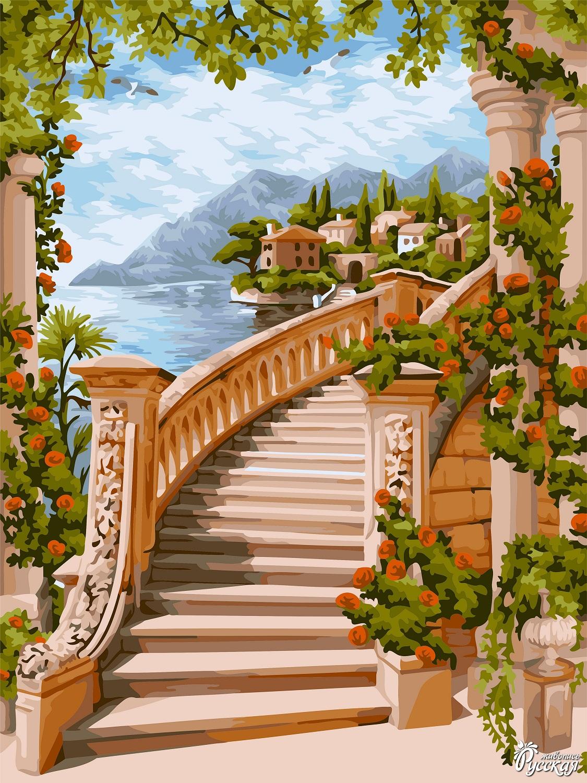 Творч Рисование по номерам 40Х50 Цветочная арка