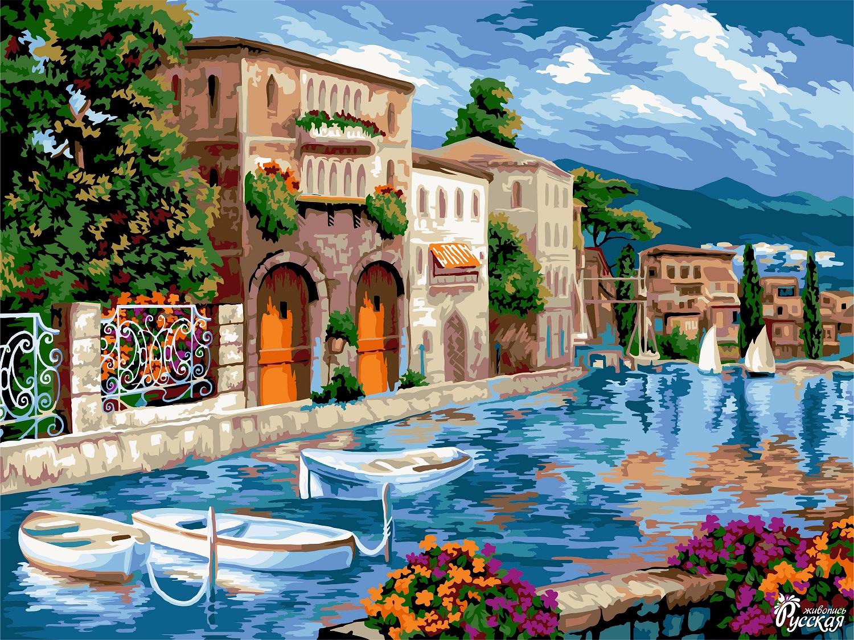 Творч Рисование по номерам 40Х50 Венецианская пристань