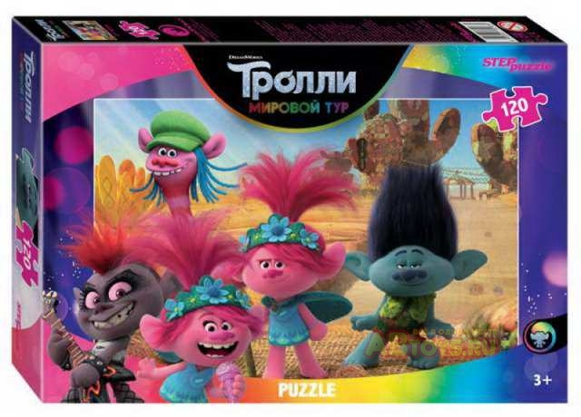 Пазл 120 Step Trolls - 2 (DreamWorks)