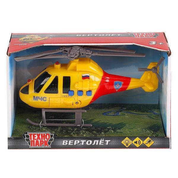 Машина Вертолет МЧС 19см пластик, свет+звук