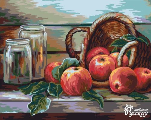 Творч Рисование по номерам 40Х50 Жанна Когай. Натюрморт с яблоками