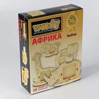 АКЦИЯ19 Игр Конструктор деревянный Вуди Фоторамка Африка 5эл