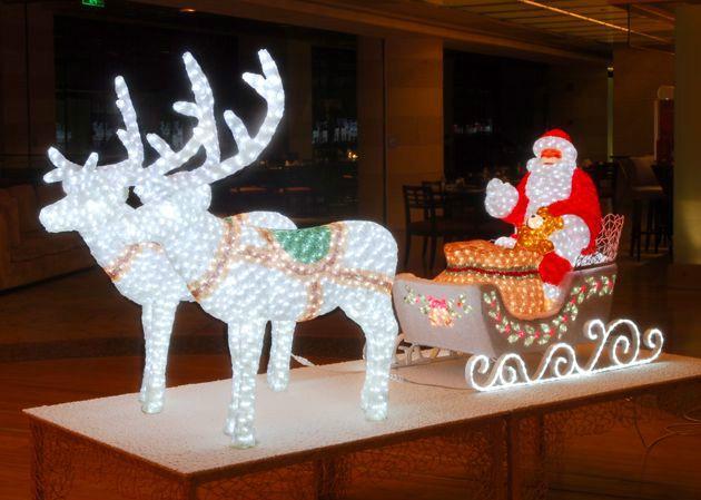 НГ Гирлянда-Светильник декоративный Дед Мороз на санях