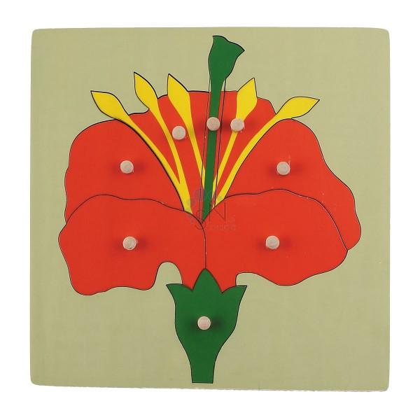 АКЦИЯ19 Игрушка деревянная Пазл Цветочек