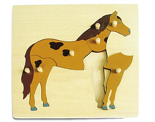 Игрушка деревянная Пазл Лошадь