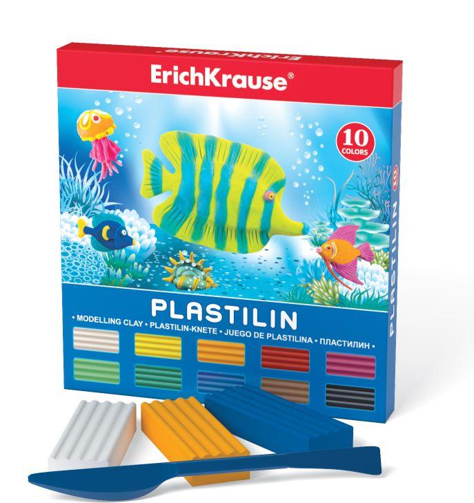 Пластилин 10 цв EK Морской мир 180гр