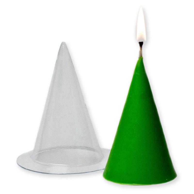 Форма пластиковая для свечи Конус большой