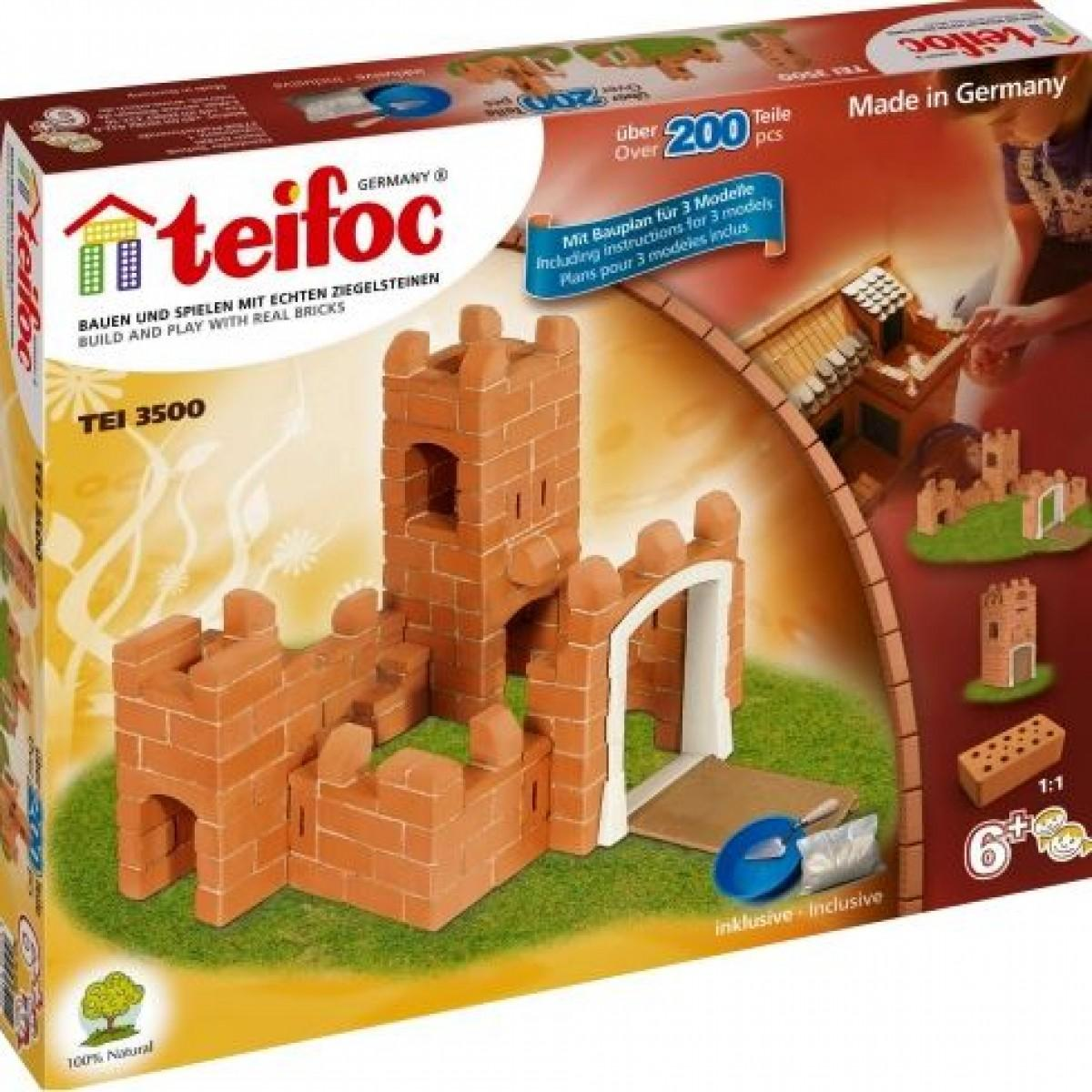 АКЦИЯ19 Игр Набор строительный из глины Замок 200 дет.