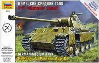 Сборная модель Немецкий средний танк T-V Пантера Ausf.D 1/72